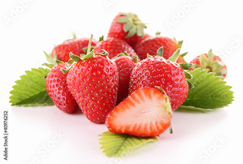 isolated strawberry