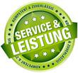 """Button Banner """"Service & Leistung"""" grün"""