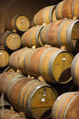 Barrels of South African wine