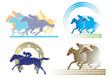 4 Pferderennen Zeichen