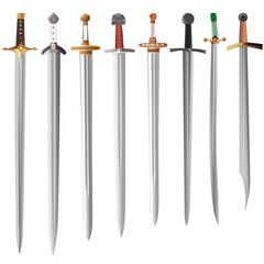Vector illustration set of swords.