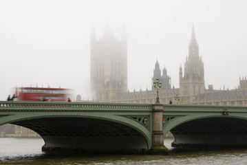 Westminster foggy day
