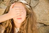 Teen Girl Eyes Shut poster
