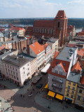 old town of Torun, Poland, from above