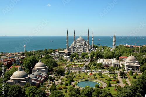 Papiers peints Turkey Blue Mosque Istanbul-Sultanahmet