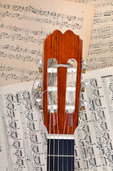 Guitar and music notes
