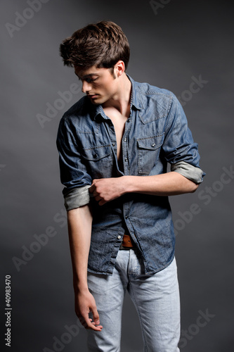 Fashion shoot with male model