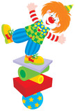 Circus clown equilibrist poster