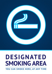 Label smoking area sticker