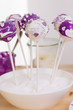 Cake Pop mit lila Herzen