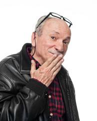 Confused elderly man