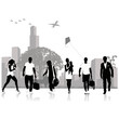 Isolated silhouettes of people .Vector illustration