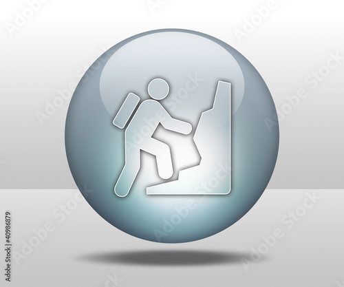 "Hovering Sphere Button ""Climbing"""