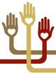Geometric hands design vector.