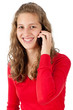 Attractive young girl speaking on cellphone