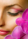 Beautiful Makeup. Face closeup