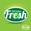 Fresh label - natural product