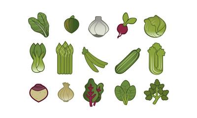 15 Sorten Gemüse illustriert Icon 2