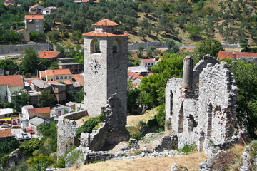 Ruins of ancient town of Bar in Montenegro.