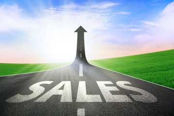 The growth of sales