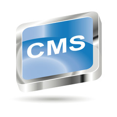 3d button icon cms - content management system