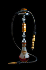 Shisha, Hookah, Sheesha  black background