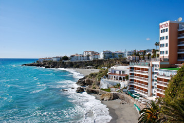 Nerja Beach and City - Spain