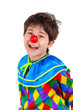 Little boy with clown costume
