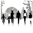 Crowd of people walking.Vector illustration