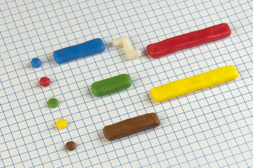 Gantt chart made of plasticine