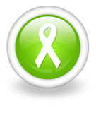 "Light Green Icon ""Awareness Ribbon"""