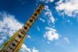 Summer in amusement park on blue sky backgroud