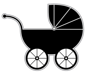 Baby Carriage - Isolated silhouette
