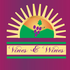 Vines and wines sun mountains logo