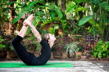 Yoga Dhanurasana bow pose