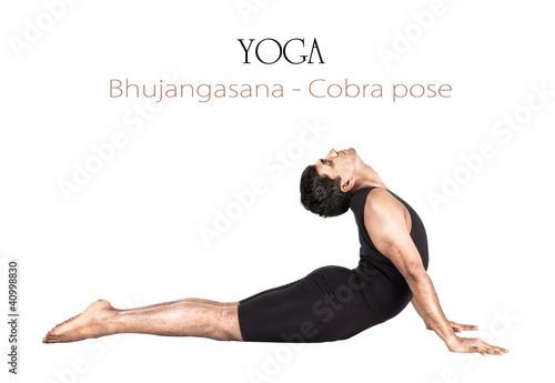 Yoga bhujangasana cobra pose