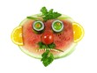 Watermelon with mustache and beard