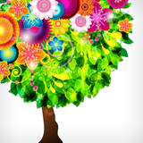 Colorful blossom floral background.