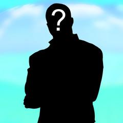silhouette inconnu qui personne ombre interrogation