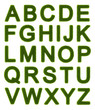 Green alphabet - capital letters