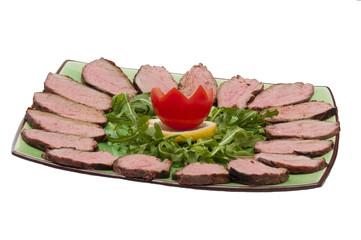 piatto verde con roastbeef