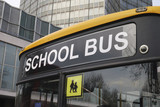Close up of School bus in London