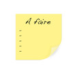 A faire - liste sur post-it