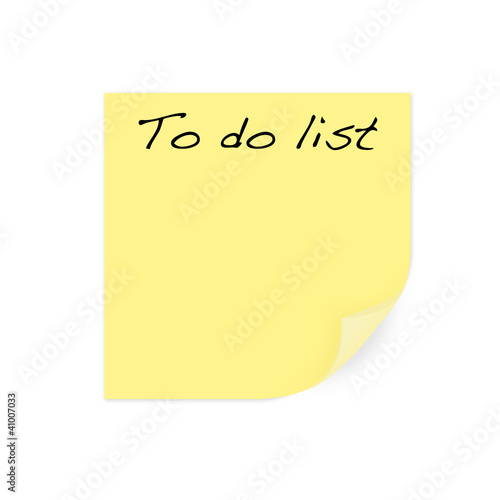 post it - to do list
