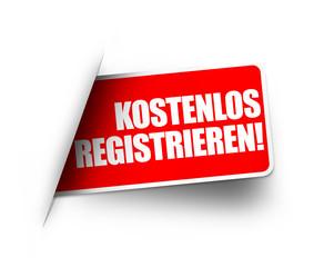 Kostenlos registrieren! Button, Icon