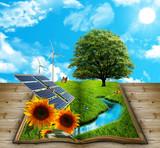 Libro natura con energia rinnovabile - Fine Art prints