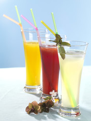 close up of fresh juices