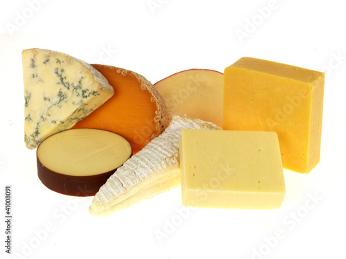 Selection of Mixed Cheeses