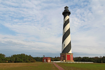 The Cape Hatteras lighthouse near Buxton, North Carolina
