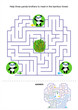 Help panda bears to meet, maze game for kids
